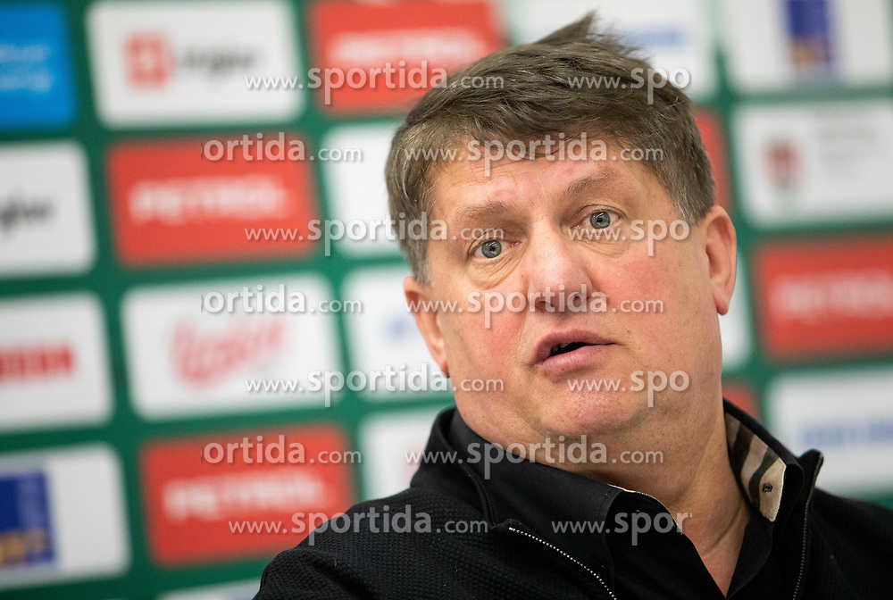 Roman Lisac, director when Jure Zdovc has been introduced as a new coach of KK Petrol Olimpija, on February 20, 2019 in Arena Stozice, Ljubljana, Slovenia. Photo by Vid Ponikvar / Sportida