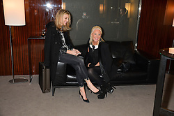 "Left to right, KIM HERSOV and AMANDA ELIASCH at a private screening Of ""The Gun, The Cake and The Butterfly"" hosted by Amanda Eliasch at The Bulgari Hotel, 171 Knightsbridge, London on 24th March 2014."