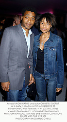 Actress NAOMI HARRIS and actor CHIWETEL EJIOFOR at a party in London on 5th April 2003.	PIR 88