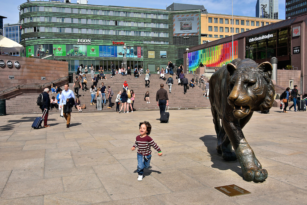 The Tiger Statue in Oslo, Norway<br />