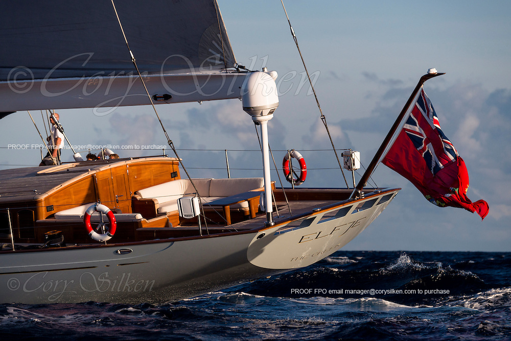 Sailing yacht Elfje, a 152 foot ketch built by Royal Huisman, designed by Hoek Design and Redman Whiteley Dixon.