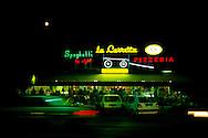 La Carretta spaghetti pizzeria restaurant at nignt, Marina di Massa ..., Travel, lifestyle
