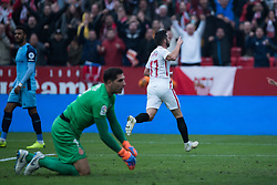 December 16, 2018 - Seville, Andalucia, Spain - Pablo Sarabia of Sevilla Fc celebrate the second goal of Sevilla FC during the LaLiga match between Sevilla FC and Girona at Estadio Ramón Sánchez Pizjuán on December 16, 2018 in Seville, Spain  (Credit Image: © Javier MontañO/Pacific Press via ZUMA Wire)