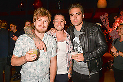 Matt Willis, Charlie Simpson, James Bourne at the Warner Music Group and British GQ Summer Party in partnership with Quintessentially held at Nobu Shoreditch, Willow StreetLondon England. 5 July 2017.
