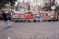 Roma 25 Febbraio 2015<br /> Un centinaio tra i promotori della campagna #MaiConSalvini  hanno tenuto una conferenza stampa a Piazza Vittorio per illustrare il corteo di sabato 28 che attraverserà le vie del centro di Roma per protestare  contro la manifestazione di Matteo Salvini, della Lega, in piazza del Popolo  in cui parteciperanno esponenti dell'estrema destra europea.<br /> Rome February 25, 2015<br /> A hundred of the campaigners #MaiConSalvini held a press conference in Piazza Vittorio to illustrate the parade on Saturday 28 that cross the streets of central Rome to protest the event of Matteo Salvini, the League, in Piazza del Popolo, where attended by members of the extreme right in Europe.