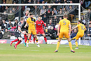 Port Vale forward D Worrall scores scores a goal 1-0 during the EFL Sky Bet League 2 match between Grimsby Town FC and Port Vale at Blundell Park, Grimsby, United Kingdom on 10 March 2018. Picture by Mick Atkins.