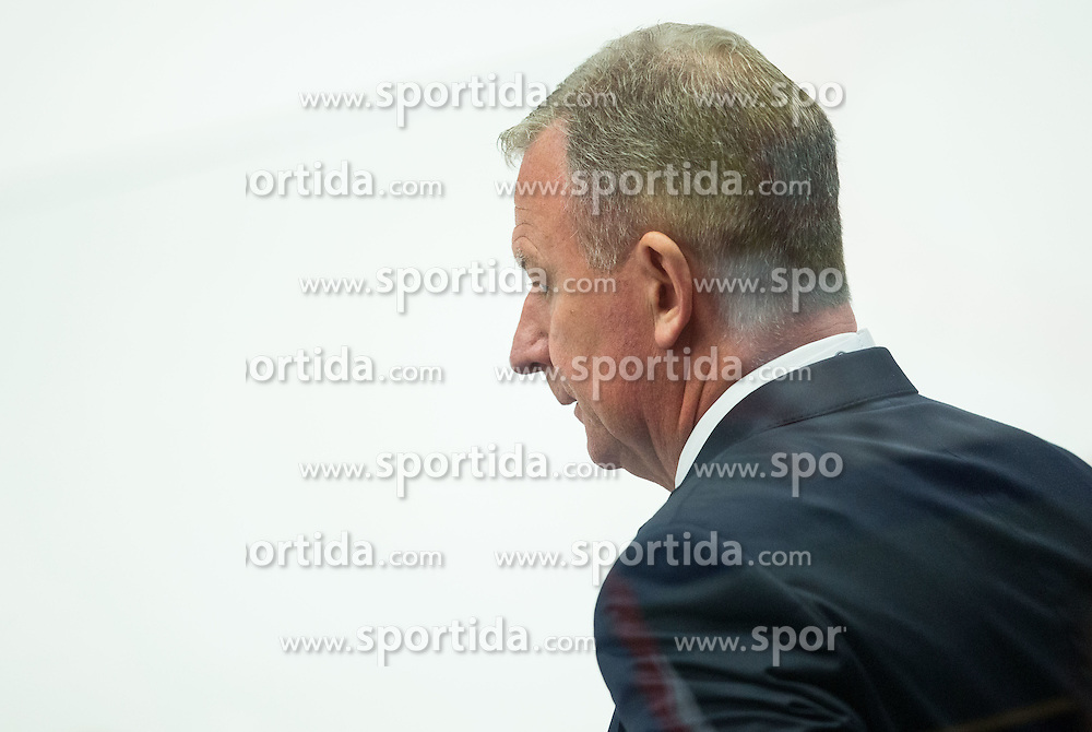 Jan Karlsson, head coach of Denmark during Ice Hockey match between Russia and Denmark at Day 6 in Group B of 2015 IIHF World Championship, on May 6, 2015 in CEZ Arena, Ostrava, Czech Republic. Photo by Vid Ponikvar / Sportida