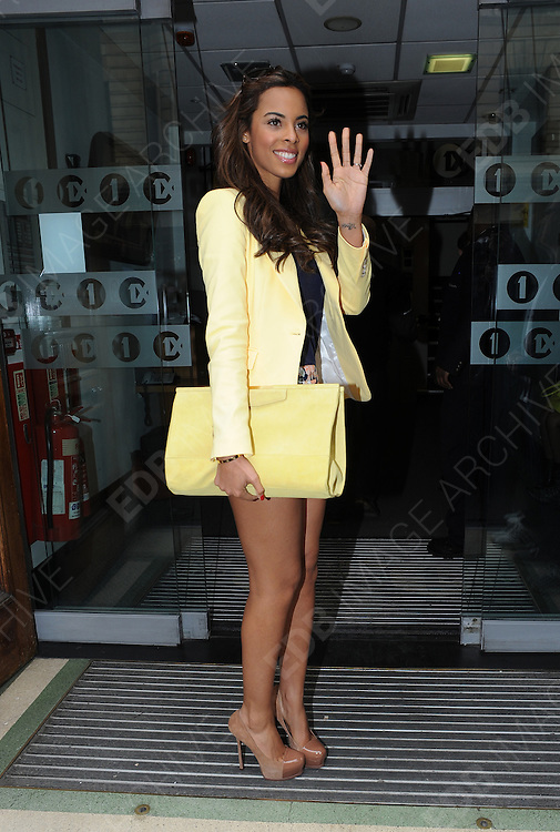 16.APRIL.2012. LONDON<br /> <br /> ROCHELLE WISEMAN OF THE SATURDAYS AT THE RADIO 1 STUDIOS IN CENTRAL LONDON<br /> <br /> BYLINE: EDBIMAGEARCHIVE.COM<br /> <br /> *THIS IMAGE IS STRICTLY FOR UK NEWSPAPERS AND MAGAZINES ONLY*<br /> *FOR WORLD WIDE SALES AND WEB USE PLEASE CONTACT EDBIMAGEARCHIVE - 0208 954 5968*