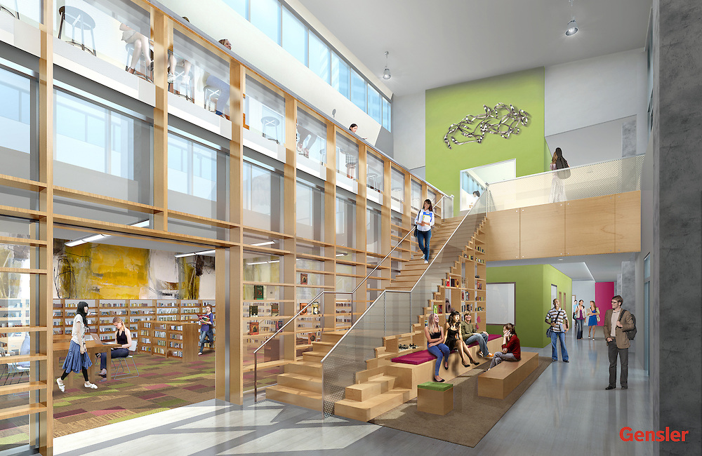 Gensler architects design renderings for the new High School for Performing and Visual Arts, December 10, 2014.