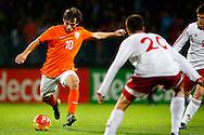 12-11-2015 VOETBAL:JONG ORANJE-JONG WIT RUSLAND:TILBURG<br /> Koning Willem II Stadion EK-kwalificatiewedstrijd<br /> <br /> Jong oranje speler Joris van Overeem (AZ) <br /> <br /> Foto: Geert van Erven