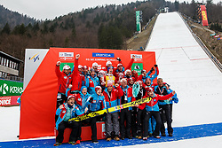 Austrian ski jumping team during trophy ceremony after Ski Flying Hill Men's Individual Competition at Day 4 of FIS Ski Jumping World Cup Final 2017, on March 26, 2017 in Planica, Slovenia. Photo by Grega Valancic / Sportida