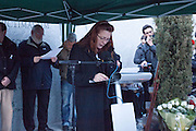 Pilar Manjon, president of the Association of Victims of 11M during the 9th anniversary of the attacks in Madrid 11M..