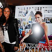 NLD/Huizen/20111223-  Lancering LAF Femme, Maybritt en Danielle Slof bij de cover van LAF Femme