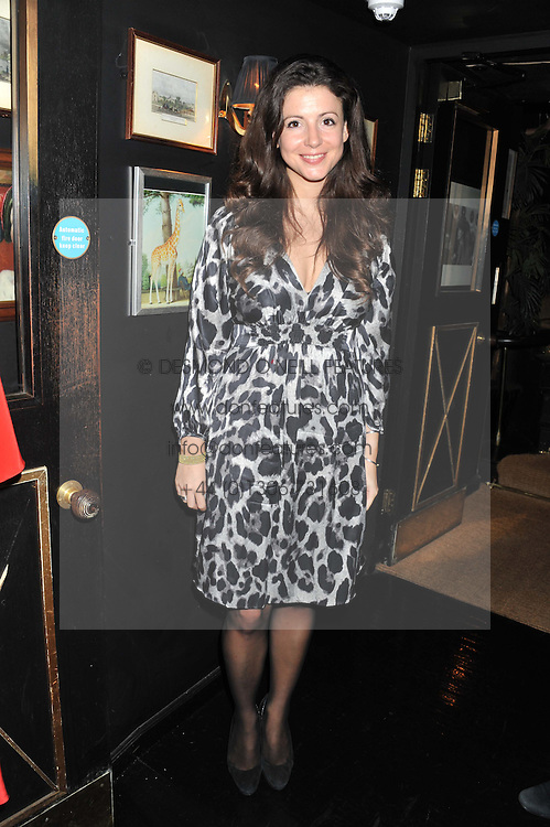 SHIRLEY LEIGH-WOOD OAKES at the launch of Beulah's collaboration with Hennessy Gold Cup and a preview of the SS13 Collection held at The Brompton Club, 92b Old Brompton Road, London SW7 on 18th October 2012.