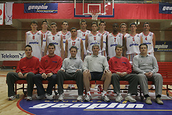 Team photo during practice session of KK Slovan before new season 2005/06, on October 7, 2005 in Kodeljevo, Ljubljana Slovenia. Photo by Vid Ponikvar / Sportida