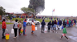 South Africa - Cape Town - 27-08- 2020- Khayelitsha residents queue at the local school bolehole  after two day of no water in the area. Photographer Ayanda Ndamane/African News Agency(ANA)