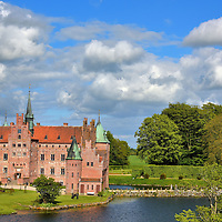Egeskov Castle Means Oak Forest in Kv&aelig;rndrup, Denmark<br />