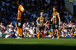 Paul McShane of Hull City looks dejected after Tottenham Hotspur score a goal to make it 2-0 - Photo mandatory by-line: Rogan Thomson/JMP - 07966 386802 - 16/05/2015 - SPORT - FOOTBALL - London, England - White Hart Lane - Tottenham Hotspur v Hull City - Barclays Premier League.