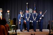 Ohio University ROTC presents the colors.