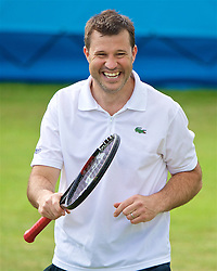 LIVERPOOL, ENGLAND - Thursday, June 15, 2017: Barry Cowan (GBR) during Day One of the Liverpool Hope University International Tennis Tournament 2017 at the Liverpool Cricket Club. (Pic by David Rawcliffe/Propaganda)