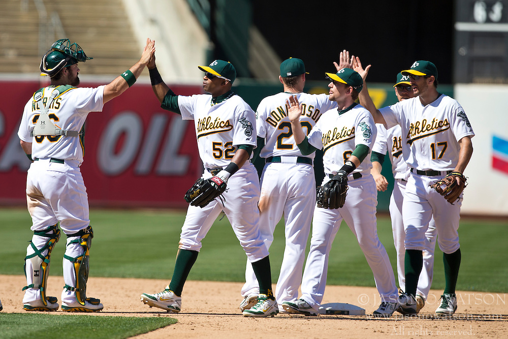 OAKLAND, CA - MAY 19:  after the game at O.co Coliseum on May 19, 2013 in Oakland, California. The Oakland Athletics defeated the Kansas City Royals 4-3. (Photo by Jason O. Watson/Getty Images) *** Local Caption ***