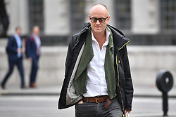 © Licensed to London News Pictures. 12/09/2019. London, UK. DOMINIC CUMMINGS is seen in Westminster, London. Yesterday a Scottish court ruled that the suspension of Parliament by British PM Boris Johnson was illegal. Photo credit: Ben Cawthra/LNP