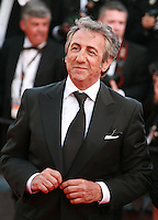 Richard Anconina at the Two Days, One Night (Deux Jours, Une Nuit) gala screening red carpet at the 67th Cannes Film Festival France. Tuesday 20th May 2014 in Cannes Film Festival, France.