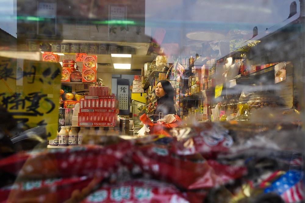 Shopkeeper, Chinatown, Chicago, February 6th, 2011