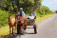 Horse and cart in Pinar del Rio, Cuba.