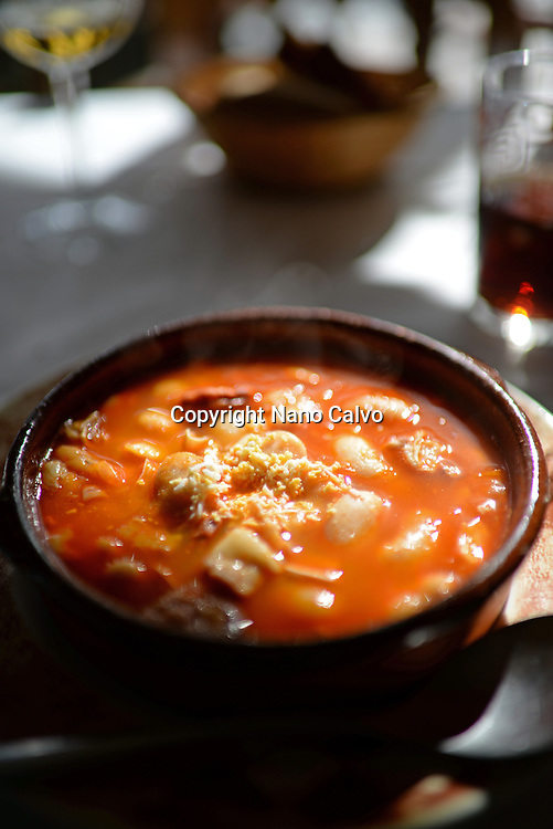 Traditional white beach stew