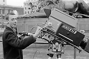 Symond and a BBC Camera, Trafalgar Square, London 1980s