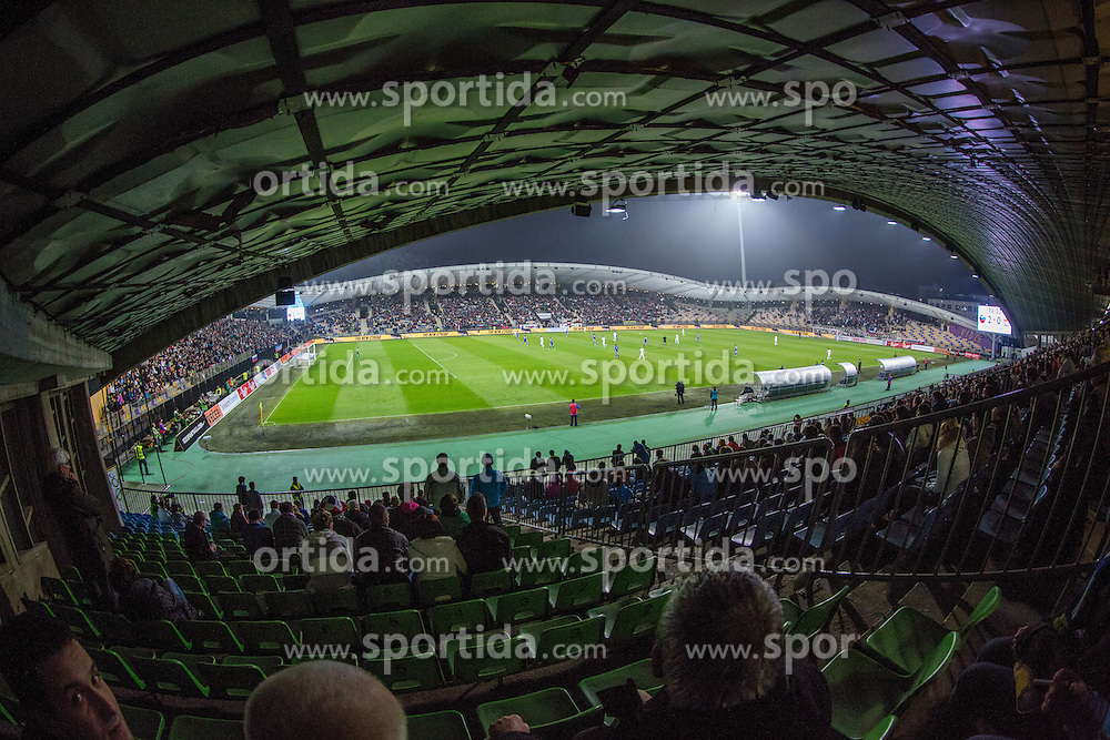 View on the pitch during football match between National teams of Slovenia and Cyprus in 3rd Round of Group E of FIFA World Cup 2014 Qualification on October 12, 2012 in Stadium Ljudski vrt, Maribor, Slovenia. (Photo by Matic Klansek Velej / Sportida)