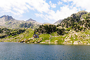 Colomers Lakes in the catalan Pyrenees, Spain. Part of the Parc Nacional d'Aigüestortes i Estany de Sant Maurici