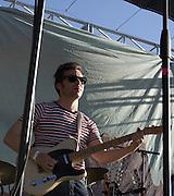 Guitarist Naim Amor performs with Calexico during their headliner concert at Fiesta en el Barrio Viejo 2010, Tucson, Arizona.