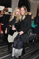 Left to right, ASHLEY WARWA and CAROLINA GONZALEZ-BUNSTER at a party to celebrate the launch of a limited edition shoe The Chambord in celebration of Nicholas Kirkwood's partnership with Chambord black raspberry liqueur, held at the Nicholas Kirkwood Boutique, 5 Mount Street, London on 12th December 2012.