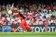 17th February 2019, Marvel Stadium, Melbourne, Australia; Australian Big Bash Cricket League Final, Melbourne Renegades versus Melbourne Stars; Dan Christian of the Melbourne Renegades clips the ball to the onside for runs
