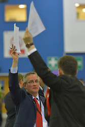 SCOTTISH PARLIAMENTARY ELECTION 2016 – Party agents during the counting of votes at Royal Highland Centre, Edinburgh<br />(c) Brian Anderson   Edinburgh Elite media