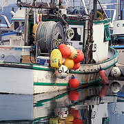 Fishing Boats In Small Boat Harbor On The Homer Spit, Homer, Alaska USA