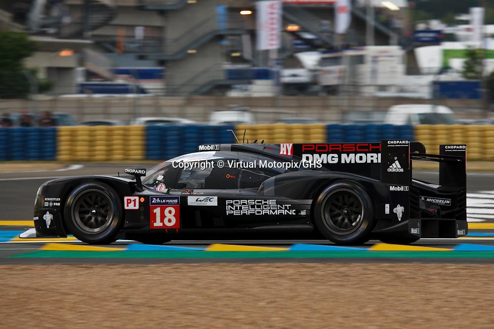 #18 Porsche 919 Hybrid, Porsche Team, Romain Dumas, Neel Jani, Marc Lieb, Le Mans 24H, 2015