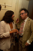 Valerie Grove and Andrew Barrow. Spectator party. Doughty St. London. 28 July 2005. ONE TIME USE ONLY - DO NOT ARCHIVE  © Copyright Photograph by Dafydd Jones 66 Stockwell Park Rd. London SW9 0DA Tel 020 7733 0108 www.dafjones.com