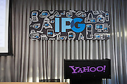 Yahoo! welcomes IPG members to their Sunnyvale, Calif., campus for a special event discussing the benefits of social media and new internet marketing techniques on Oct. 7, 2012.  Photo by Stan Olszewski/SOSKIphoto.