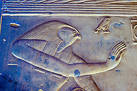 Hieroglyphics, Temple of Seti I, Abydos, Egypt