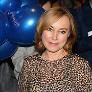 Sian Williams attend the Company - Opening Night at Gielgud Theatre, London, UK. 17 October 2018.