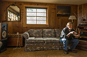 At home in Burms Hines Oregon in the living room