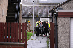Fatal fire, Rosyth, 16-12-2016<br /> <br /> Fatal fire in Walter Hay Court in Rosyth - People getting evacuated