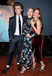 Joe Keery, Maika Monroe and Jennifer Garner attend the premiere of IFC Films' 'The Tribes of Palos Verdes' at The Theatre at Ace Hotel on November 17, 2017 in Los Angeles, California. Photo by Lionel Hahn/AbacaPress.com