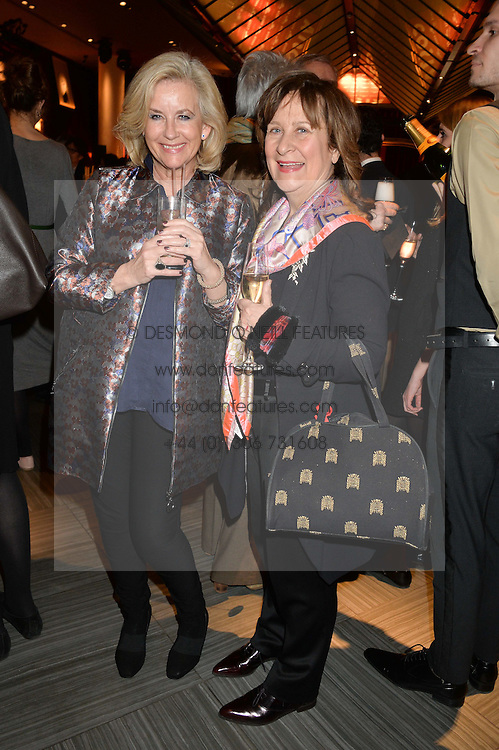 Left to right, JILL HORNBY and BARONESS HELENA KENNEDY at the 2014 Costa Book of The Year Awards held at Quaglino's, Bury Street, London on 27th January 2015.  The winner of the Book of The Year was Helen Macdonald for her book H is for Hawk.