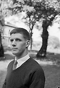Rugby player Jerry Jormey UCD to replace M. English on the South African Tour to be taken by the Irish Rugby Team 27th april 1961