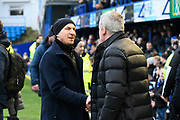 Barnsley manager Gerhard Struber and Portsmouth manager Kenny Jackett shake hands before kick off during the The FA Cup match between Portsmouth and Barnsley at Fratton Park, Portsmouth, England on 25 January 2020.