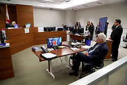 Suspected school shooter Nikolas Cruz makes a video appearance in Broward County court before Judge Kim Theresa Mollica on Thursday, February 15, 2018. Cruz is facing 17 charges of premeditated murder in the mass shooting at Marjory Stoneman Douglas High School in Parkland, FL, USA. Photo by Susan Stocker/Sun Sentinel/TNS/ABACAPRESS.COM